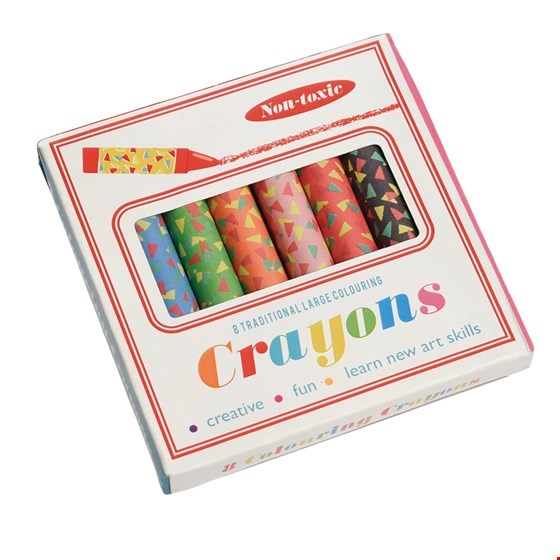 Set 8 Large Colourful Crayons - PomPom