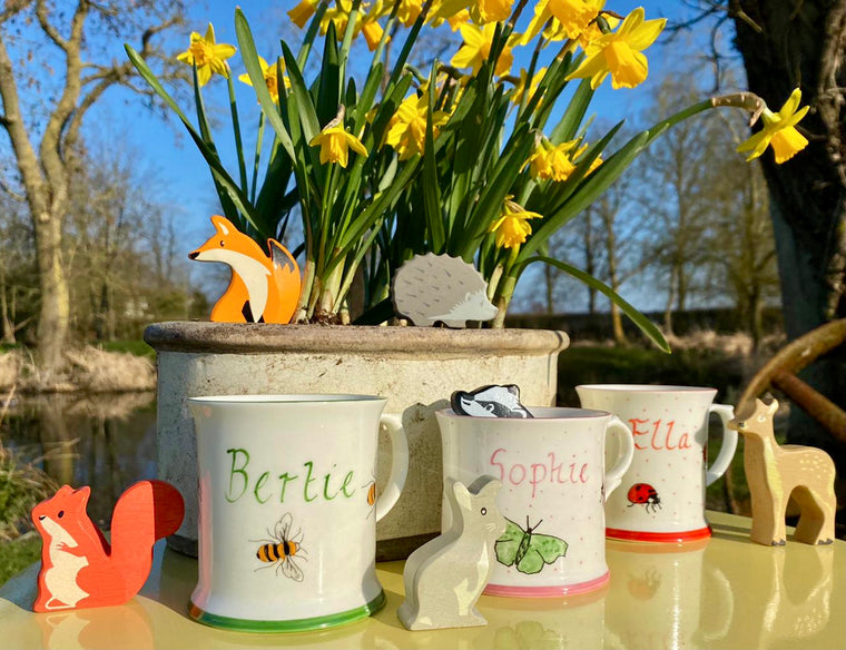 Personalised Children's Mugs, Easter