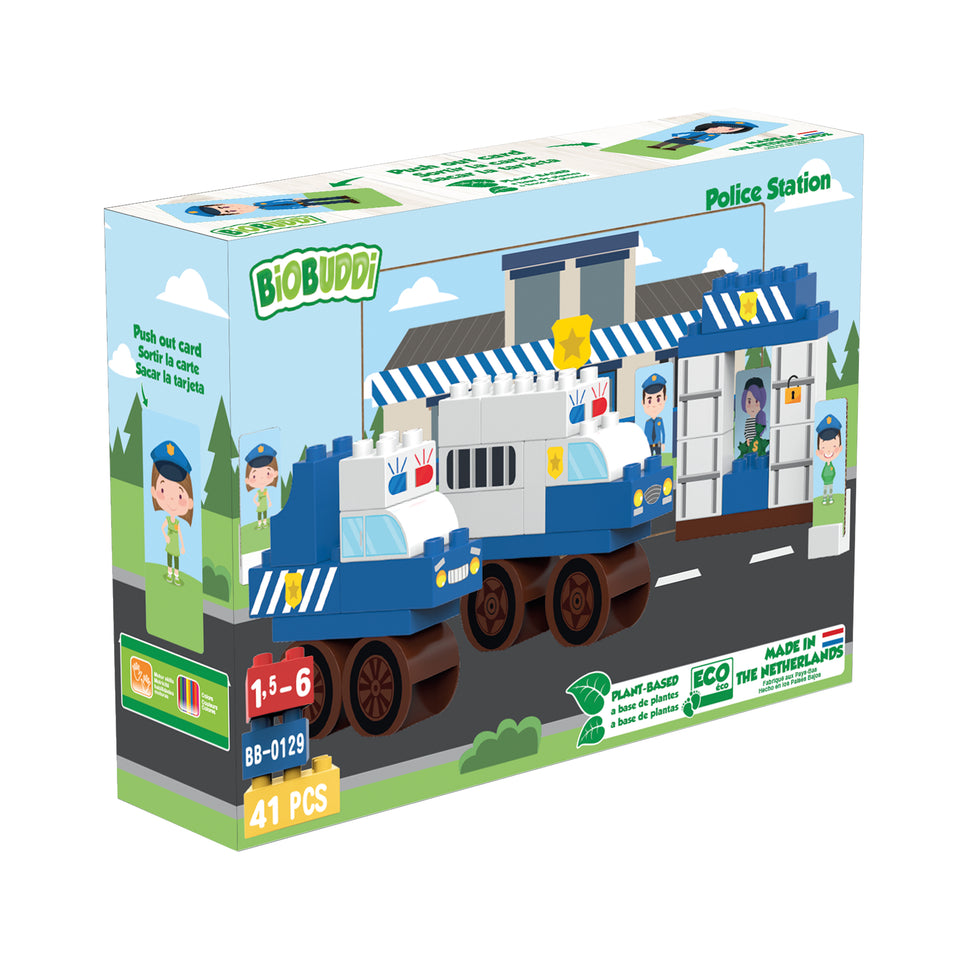 Police Station Building Blocks - PomPom