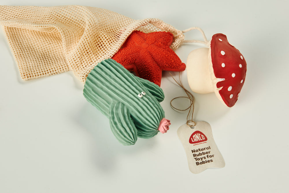 A Baby Teether Pack - Natural Rubber - PomPom