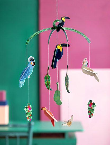 Baby Mobile Exotic birds