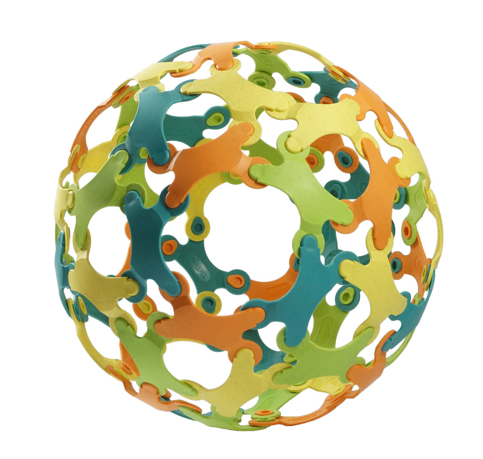 Binabo - Construction Ball - 60 pieces, mixed colours
