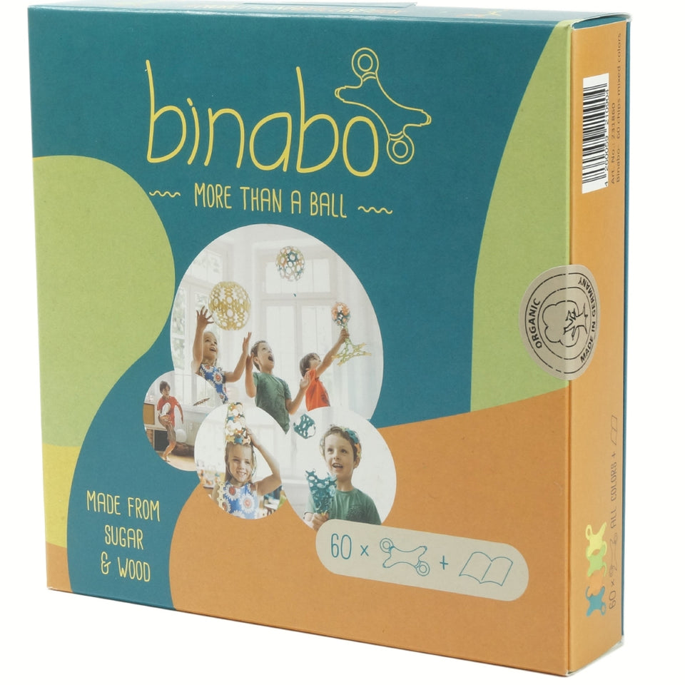 Binabo Construction Ball - 60 pieces, mixed colours
