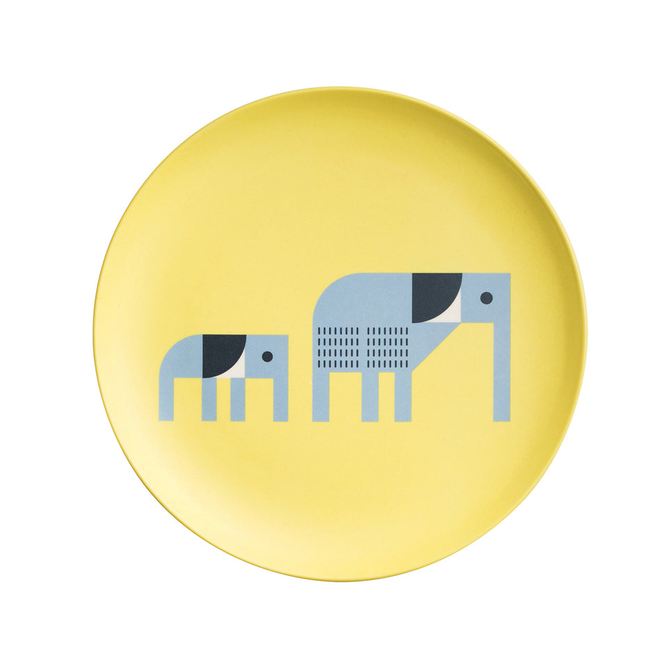 Elephant Bamboo Plate & Cup Set