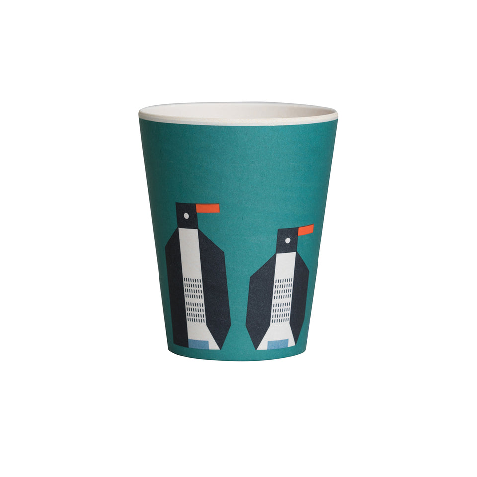 Penguin Bamboo Plate & Cup Set - PomPom