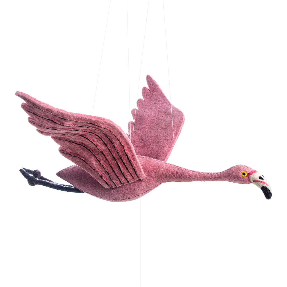 Flapping Flamingo Mobile - PomPom