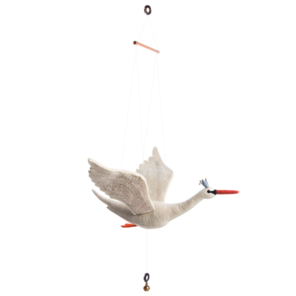Flapping Swan Mobile - PomPom