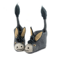 Darci Donkey Children's Slippers - PomPom
