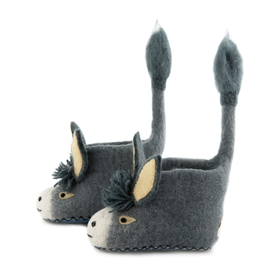 Darci Donkey Children's Slippers