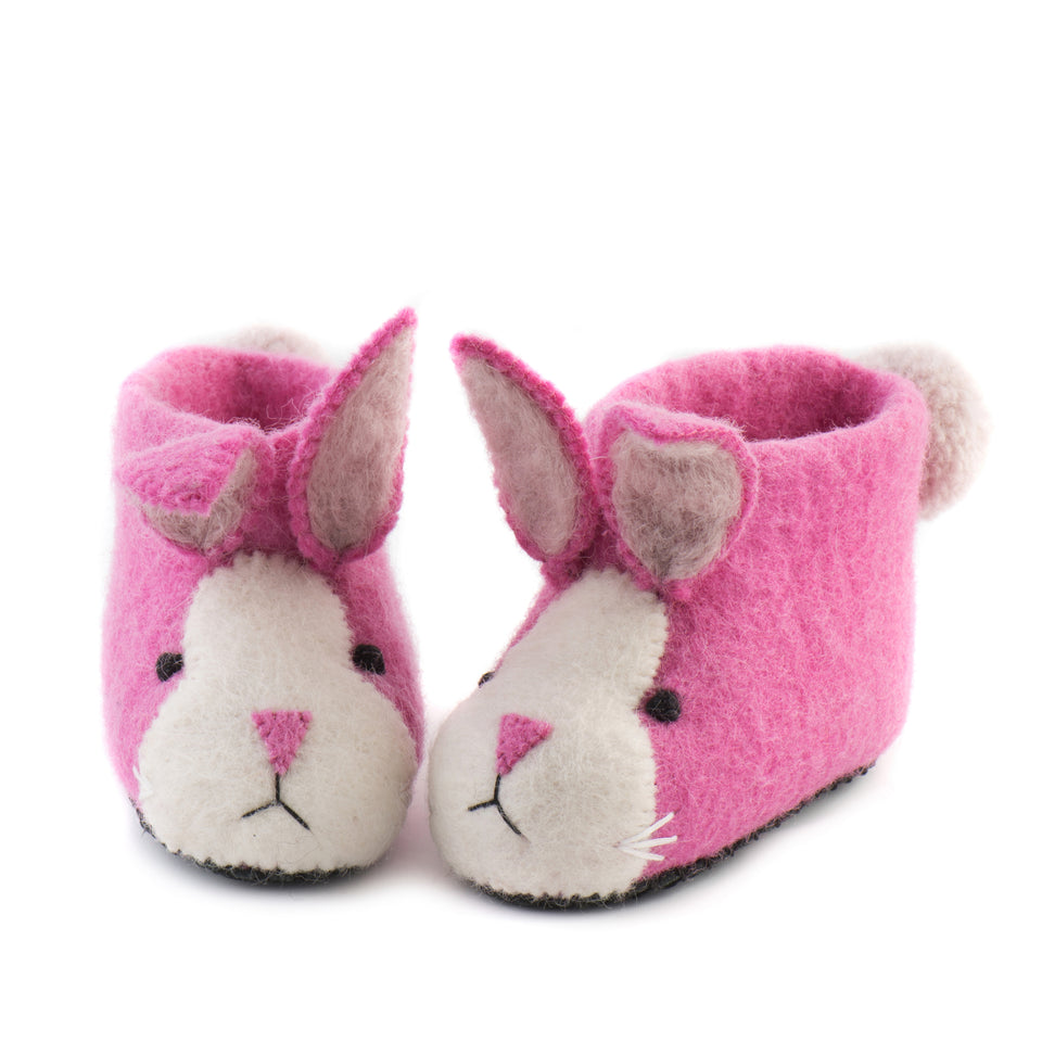 Rosy Rabbit Children's Slippers