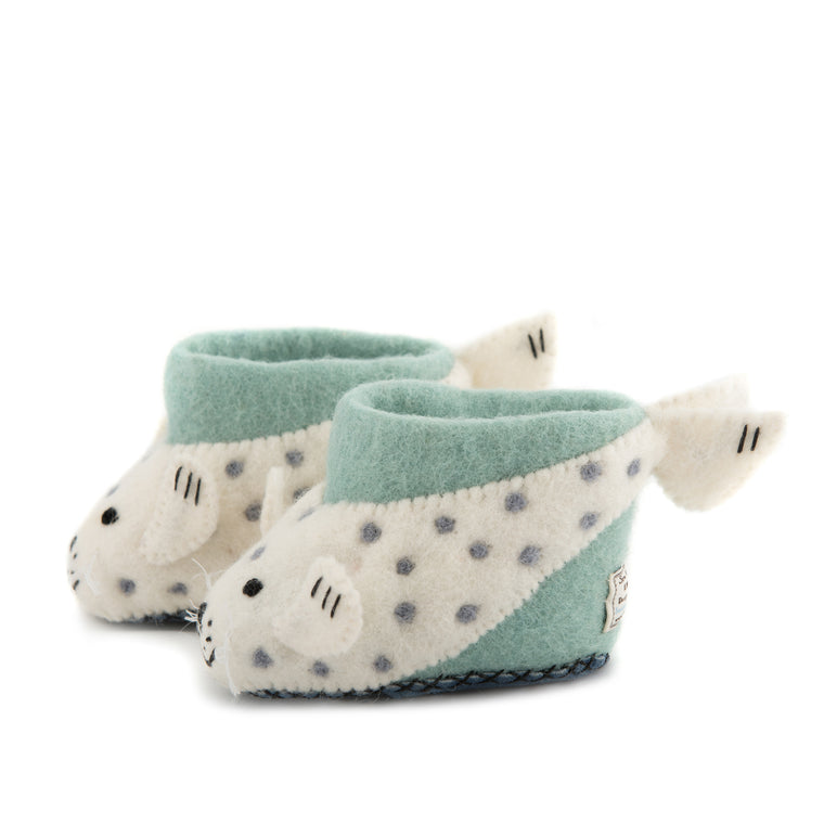 Sally Seal Children's Slippers - PomPom