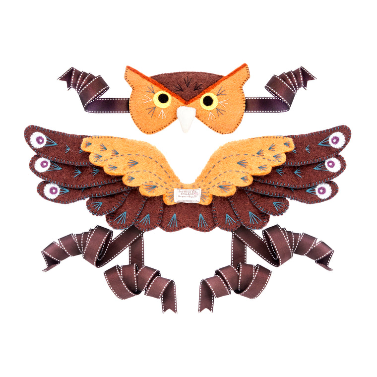 Owl Head Dress and Wings - PomPom