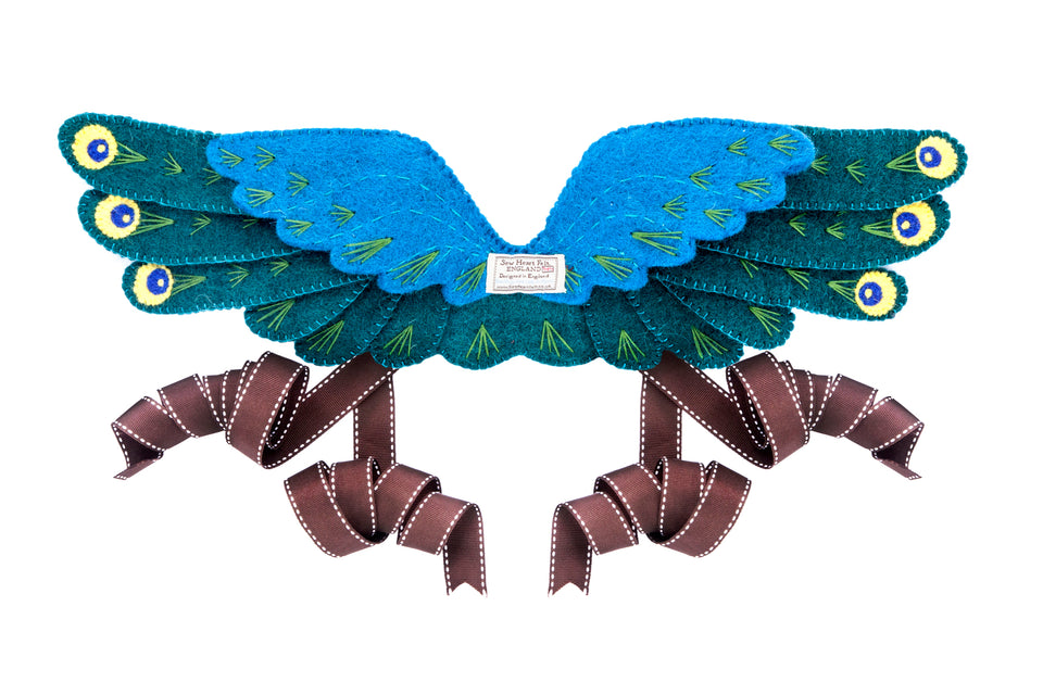 Peacock Head Dress and Wings - PomPom