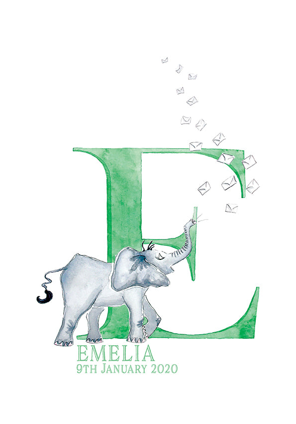 Personalised Individual Alphabet Letter Print