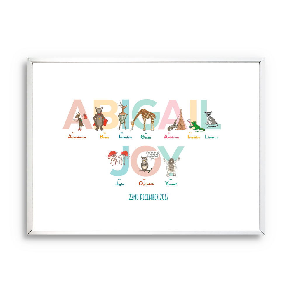 Personalised Name Print: Alphabet of Emotions - PomPom