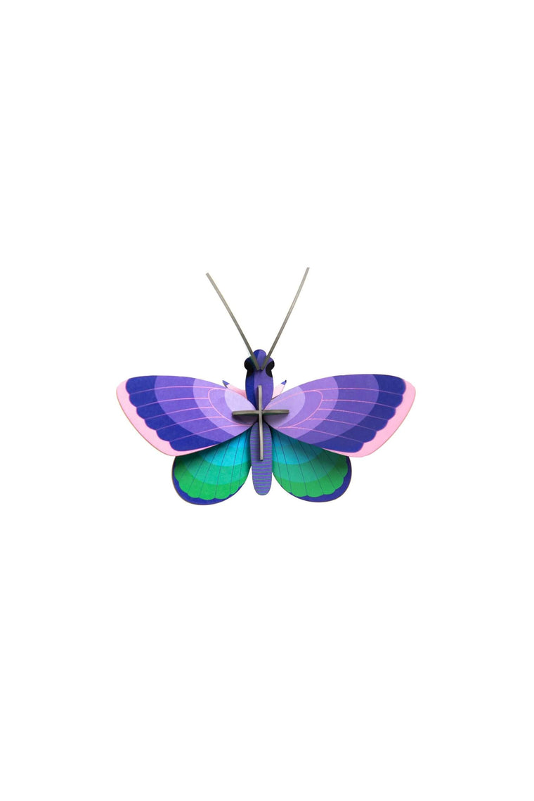Blue Copper Butterfly Wall Decoration