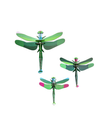 Set of 3 Dragonflies - Wall Decoration