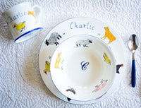 Kids Personalised China - Bowl, Plate and Mug - PomPom
