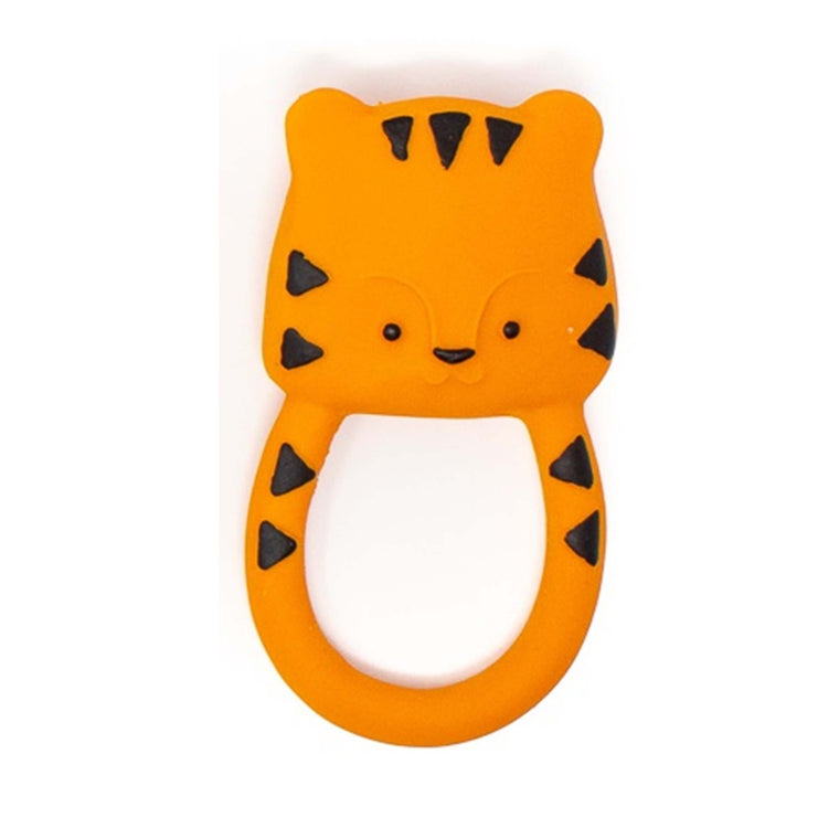 Natural Rubber Tiger Baby Teether