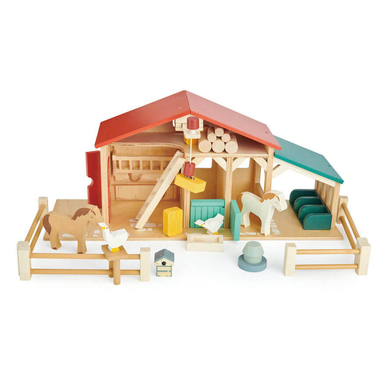 Tender Leaf Wooden Farm Set