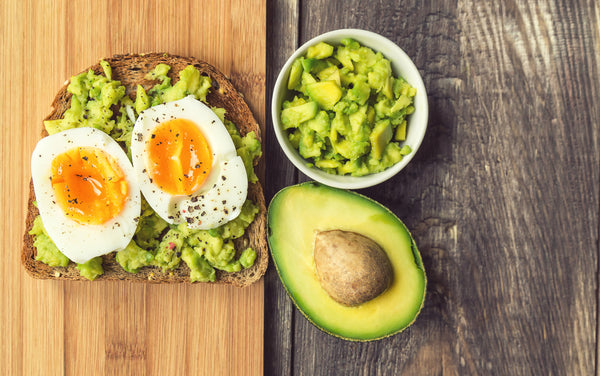 Eggs with Avocado and Toast