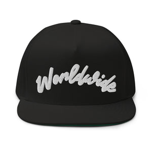 "PEACE GANG ""Worldwide"" 3D Puff Embroidered Snap-Back Flat Bill Cap"
