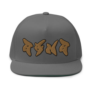 PEACE GANG High Profile Five Panel Snapback Flat Bill Cap