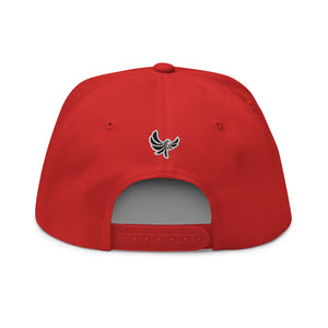 "PEACE GANG "" Worldwide "" High Profile Five Panel Flat Bill Snap-Back Cap"