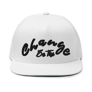 "PEACE GANG "" Be The Change "" High Profile Five Panel Flat Bill Snap-Back Cap"