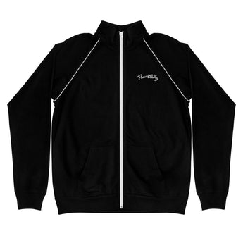 PEACE GANG Embroidered Piped Fleece Jacket