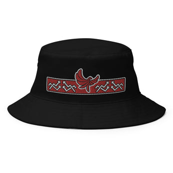 PEACE GANG Embroidered Old School Bucket Hat