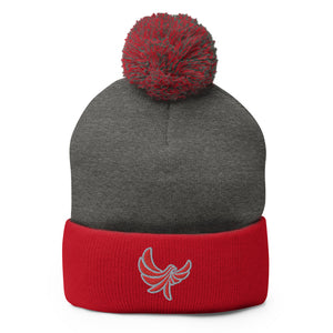 PEACE GANG Embroidered Pom-Pom Beanie