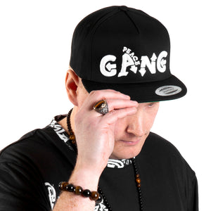 PEACE GANG 3D Puff Embroidered Flat Bill Snap-Back Cap