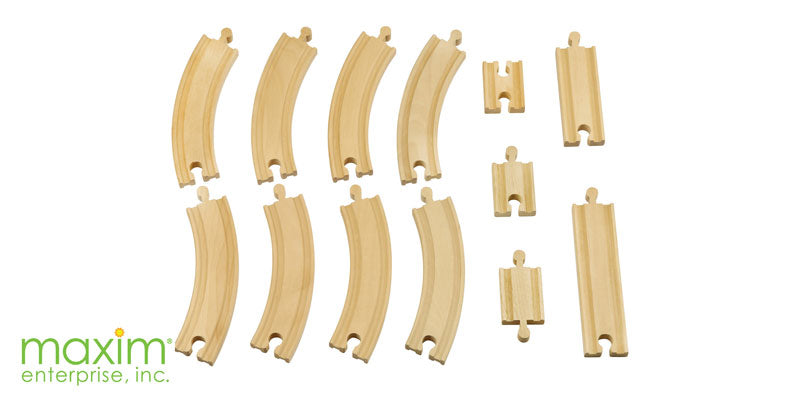 Wooden Train Track Expansion Pack - 13 Piece