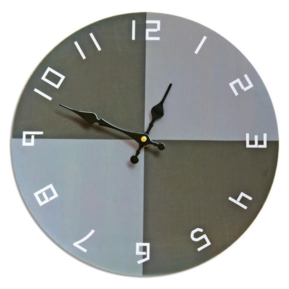 Modern Home Bedroom Wall Decoration Hanging Clock Frameless Pointer Exposed