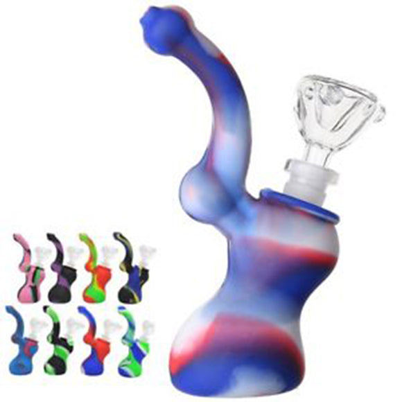 Mini Silicone Pear-Shaped Smoking Tobacco Pipe With Bowl Cigarette Holder 1pc