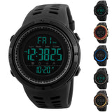 Men's Fashion Waterproof Outdoor Sports Digital Movement Round Dial Watch