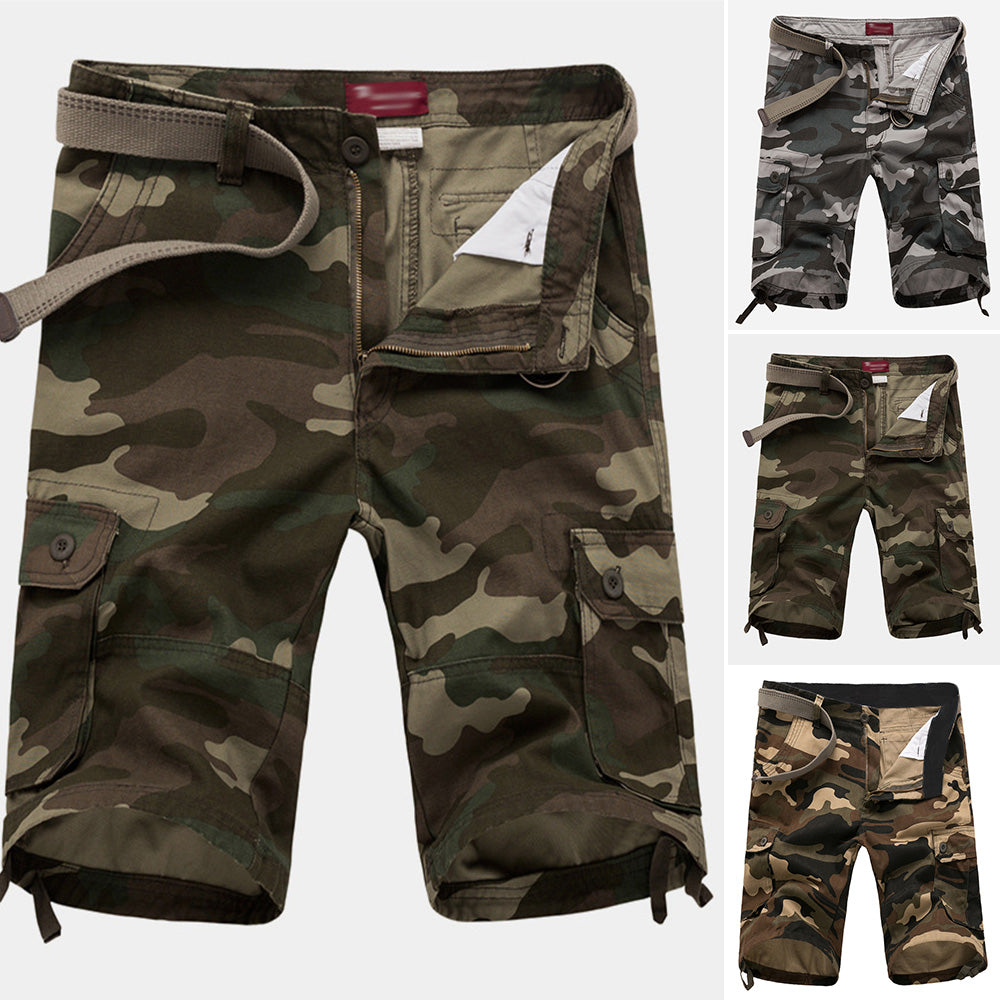4c75bc0bfd ... Summer Mens Cargo Shorts Camo Camouflage Pants Trendy Sports Work Army  Trousers ...