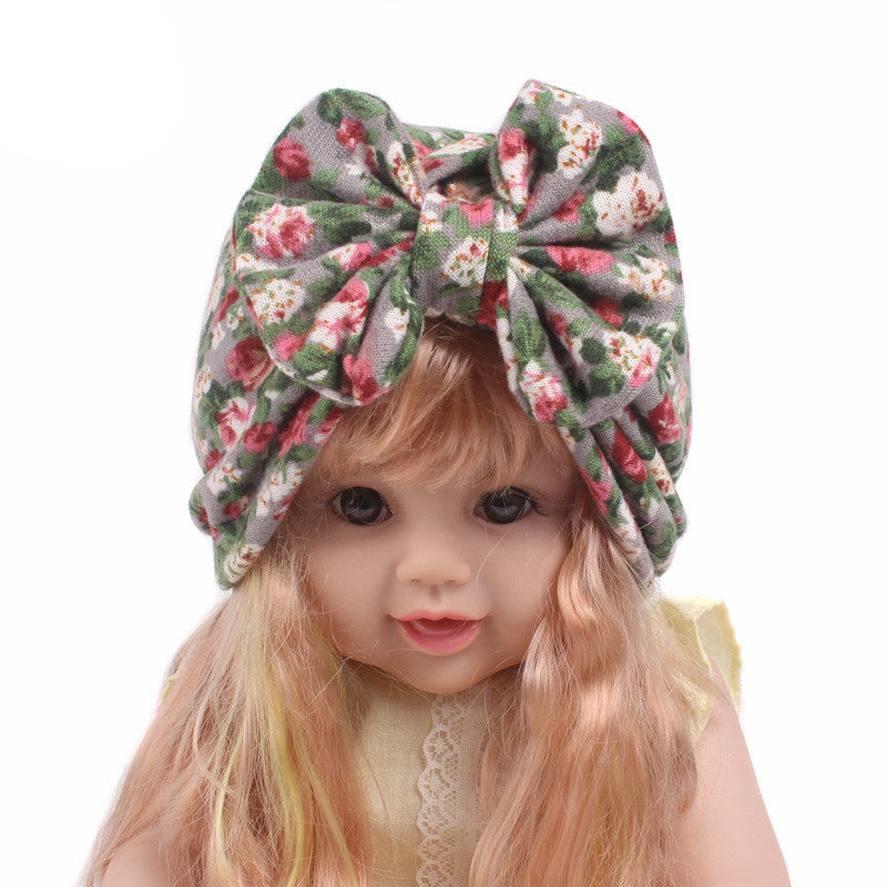 7328dad3247 ... Newborn Baby Infant Girls Holiday Bowknot Hospital Cap Toddler Comfy  Beanie Hat ...