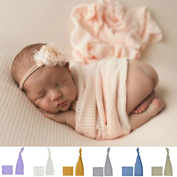 Newborn Infants Kids Photo Photography Prop Sleeping Cloth + Headband Knotted