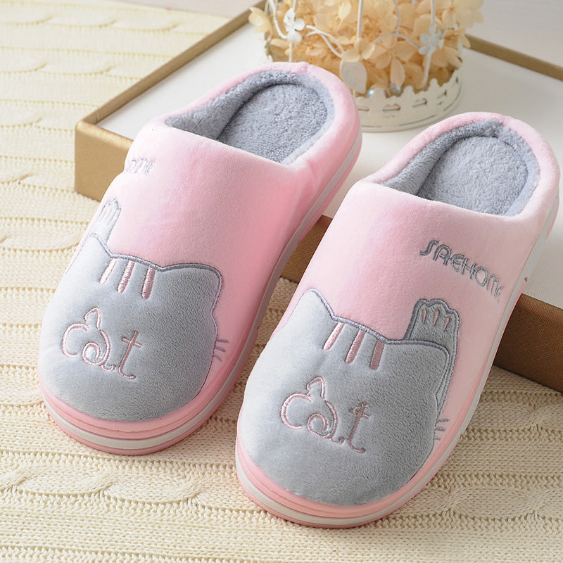 67ce819c89d ... New Cute Cozy Cat Paw Slippers Men Women Home Warm Winter Slippers  Indoor Shoes ...