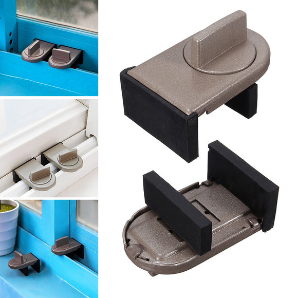 Kids baby Safe Security Sliding Window Door Sash Lock Restrictor Safety Catch