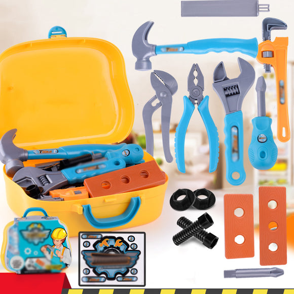 Kids Construction Tool Set Toy Children Pretend Play Repair/Work Hand Tools Gift