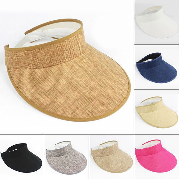 Caps Sunhats Visor Hand Made Straw Casual Shade Hat Empty Top Hat Beach fashion