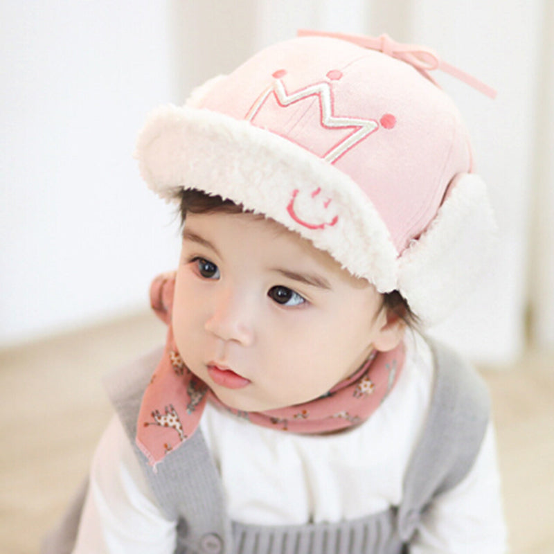 ... EZ Winter Kids Baby Child Hats Plush Ushanka Boys Girls Warm Cap MU ... f7fd9addc7d