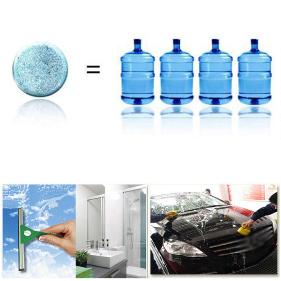 Car Care Windscreen Window Glass Concentrated Cleaner Wiper Wash Tab 1/2/6PCS
