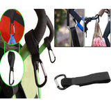 Aluminum Alloy Buggy Clip with Velcro Strap Pram Pushchair Shopping Bag Stroller Hook Strong Brand New