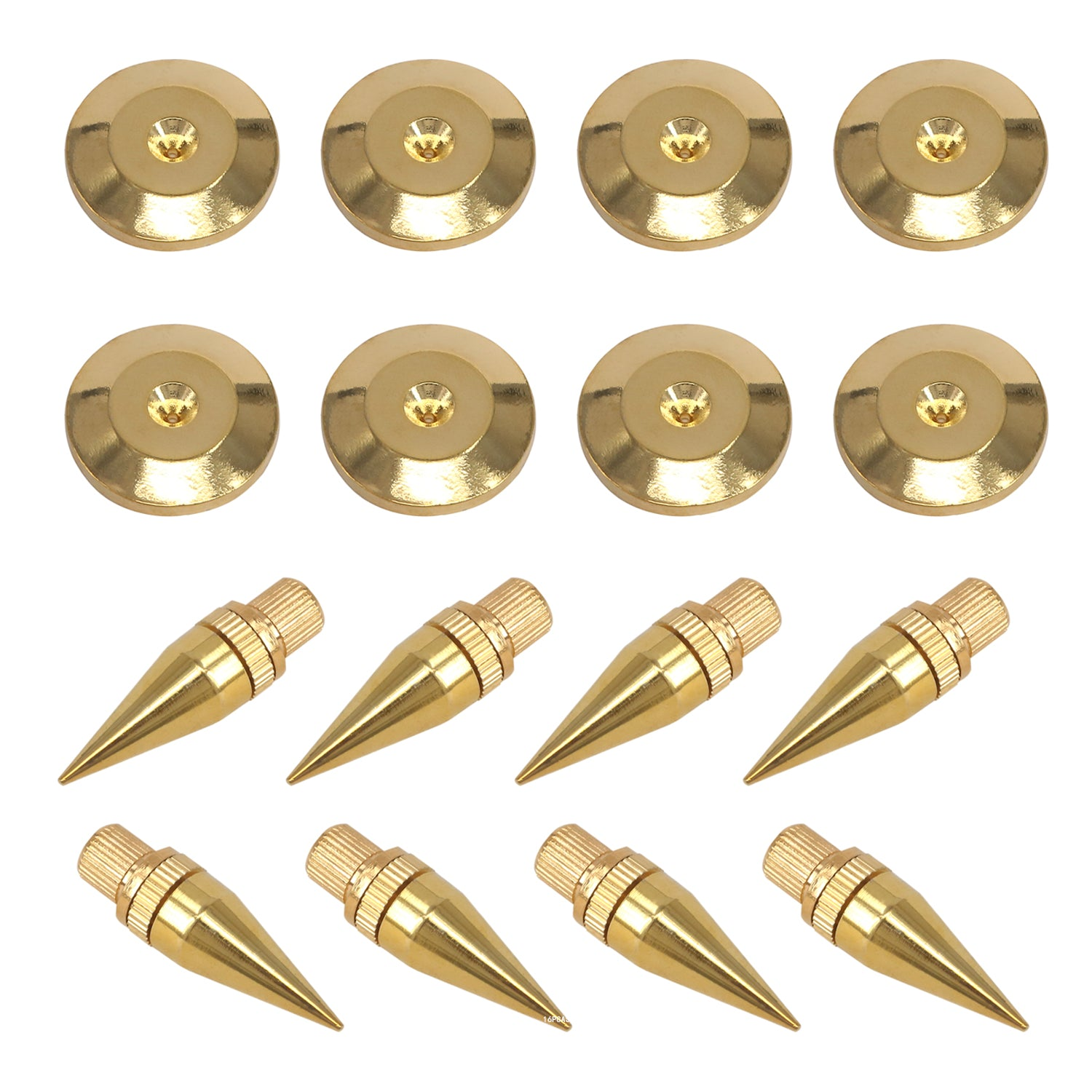 Pro 8Sets M6*36mm Golden Speaker Spikes Isolation Stand Cone Feet and Base  Pads