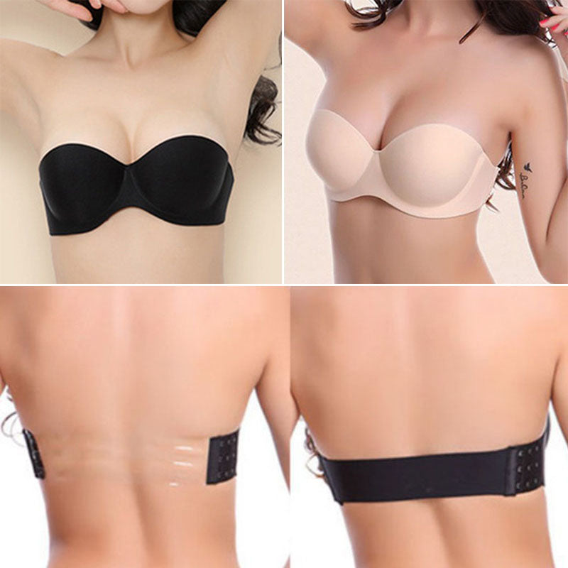 7bec75bbd4b9c Perfection Secret Invisible Winged Stick on Bra Backless Strapless A to D  cup ...
