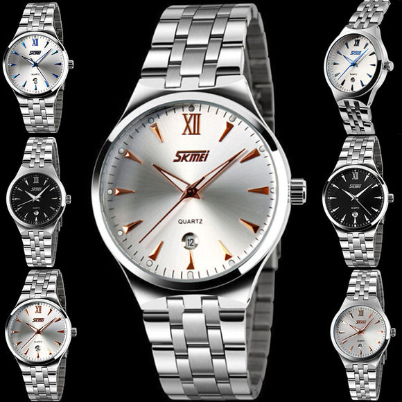 Men's Waterproof Stainless Steel Watchband Wrist Watch With Calendar Business
